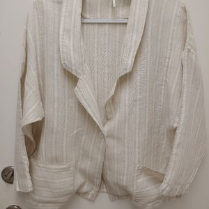 Free People Linen Blazer